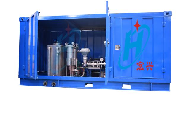 2500公斤双枪纯水除漆除锈高压清洗机